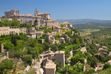 General view of hiltop village of Gordes.