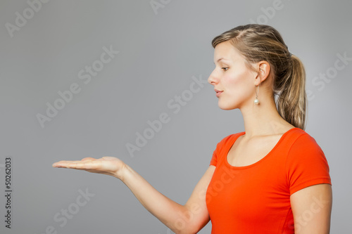 woman presenting