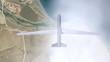 aufklärungsdrohne im flug