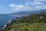 View on Yalta city and Ai-Petri mountain in Crimea, Ukraine