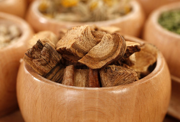 Gentian dried root parts herb