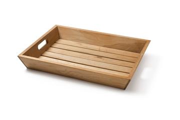 Tray, Wooden, Empty