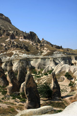 the Famous phallic rock formations in Capapdocia, Turkey