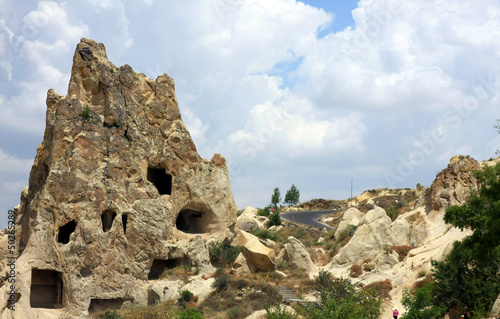 Tuinposter Canyon Goreme, Cappadocia. Rock Churches of Goreme