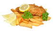 Fish And Chips With Lemon - 50265449