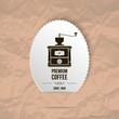 coffee grinder paper background