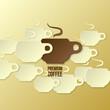 premium coffee background (paper theme)