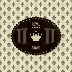 Vintage royal background