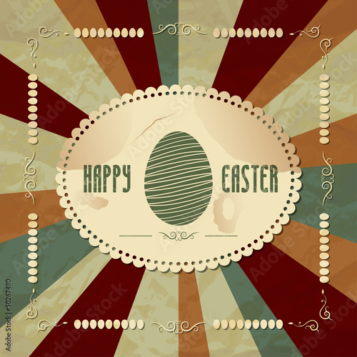 easter vintage background
