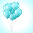 background with bright light blue balloons