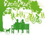 Fototapety grüner Stadtpark