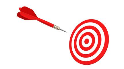 dart flying in target