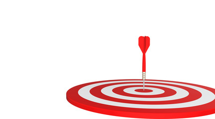 Red dart flew into the target