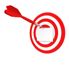 blank sheet on the target darts