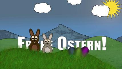 "Osterhasen ""Frohe Ostern"""