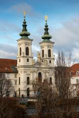 The Baroque Church of Mariahilf (Mariahilfkirche) in Graz