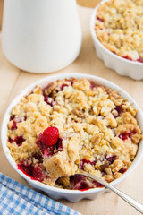 Crumble with summer fruits