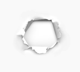 Hole in paper