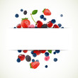 Vector Illustration of a Background with Fresh Berries