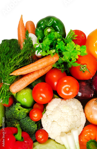 Group of fresh vegetables