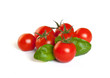 Tomaten mit Basilikum Freisteller I