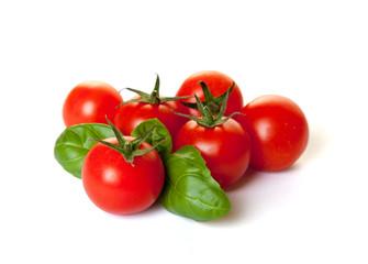 Tomaten mit Basilikum Freisteller II