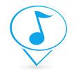note de musique sur signet bleu