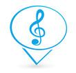 musique sur signet bleu