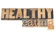 healthy eating in wood type