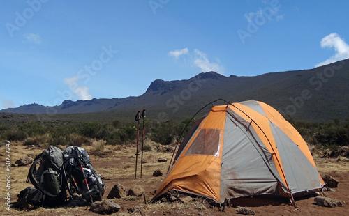 Campement sur le Kilimanjaro