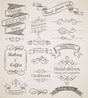 Hand drawn vintage elements