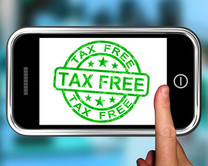 Tax Free On Smartphone Shows Duty Free