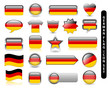 GERMAN FLAG ICON SET (german jersey soccer football icons stamp)