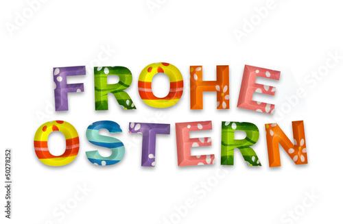 GamesAgeddon - Frohe Ostern - 3d-Buchstaben auf weißem Hintergrund ...