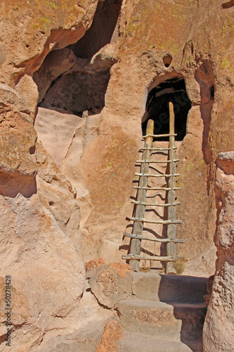 ladder to cave