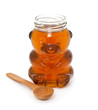 honey jar with wooden spoon