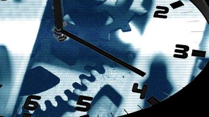 Clock in time-lapse loop