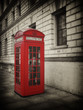 Vintage Style Red Phone Box in London