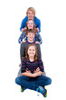 Teenager als Pyramide