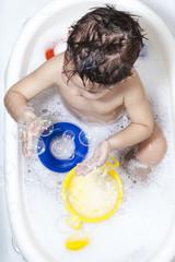 Soap-bubbles at the Bathtub