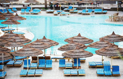 Egyptian Hotel resort swimming pool