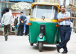 Indian auto rickshaw tut-tuk driver man