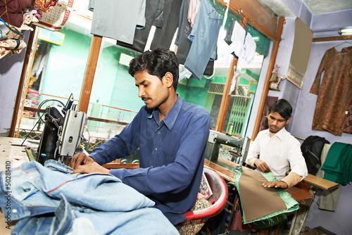 two indian man tailors
