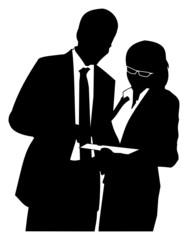 homme et femme d'affaire