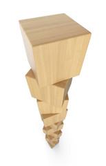 Turm aus Holzklötzen isoliert 5