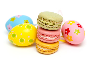 macarons and Easter eggs