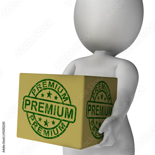 Premium Stamp On Box Shows Excellent Superior Premium Product