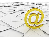Email symbol and envelopes