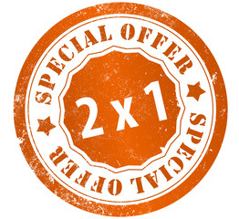 special offer 2x1 stamp