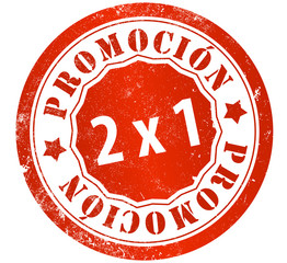promotion 2x1 stamp